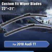 Custom Fit Front Windshield Wiper Blades for 2018 Audi TT