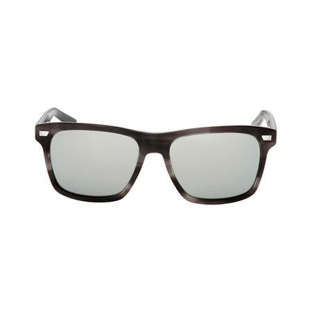 Costa Aransas Acetate Frame Gray Silver Mirror Glass Lens Unisex Sunglasses (Costa Glass Lens)