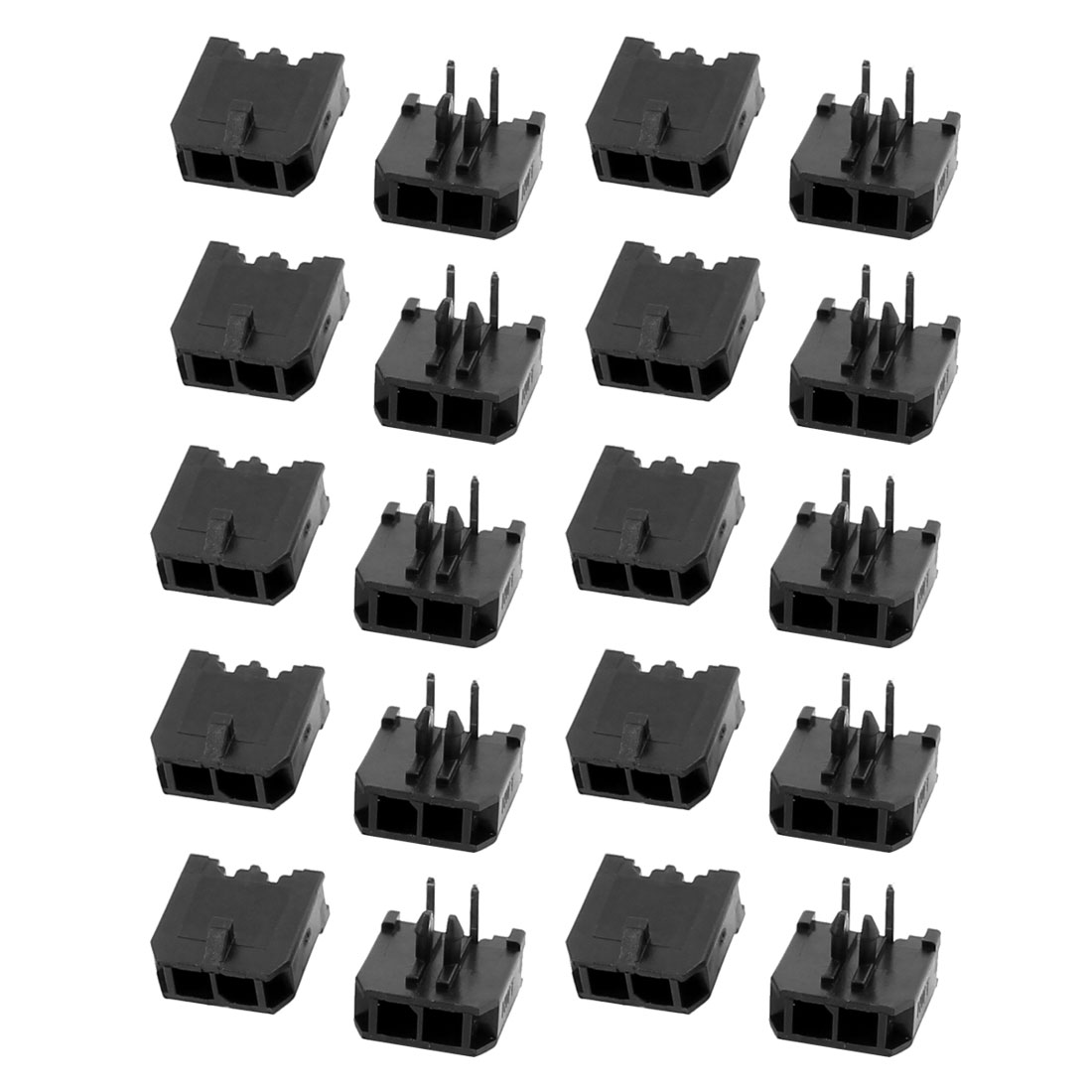 20Pcs Right Angle Single Row 3.0mm Pitch 2 Pin Connector Female Header - image 3 de 3
