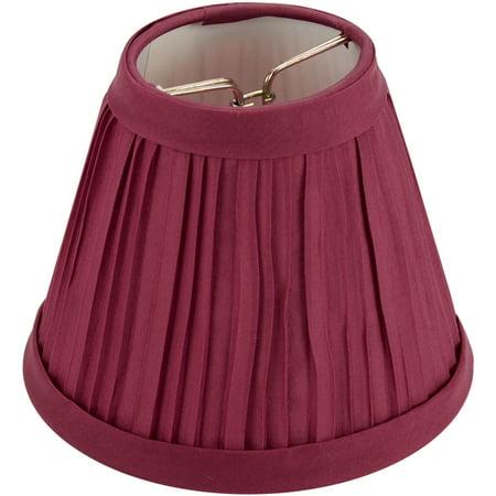 "Darice Pleated Cloth 4"" Burgundy Lampshade, 1 Each"