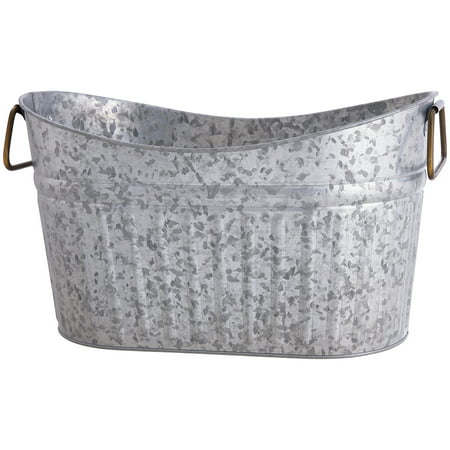 Better Homes & Gardens Galvanized Scooped Oval Tub