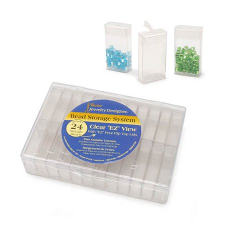 Clear Bead Organizer 6.25X4.5X1.45In
