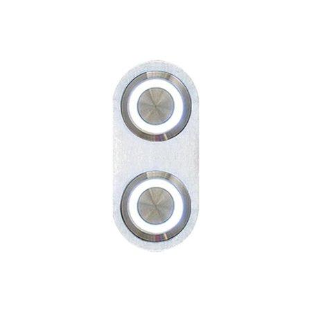 AutoLoc Power Accessories AUTBBA23  Daytona Billet Switch with WHITE LED Illumination - Single Switch