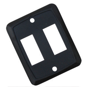 DIAMOND GRP P7215C Double Switch Plate Black - image 1 of 2