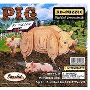 Pig 3D Jigsaw Wooden Puzzle Wood DIY Model