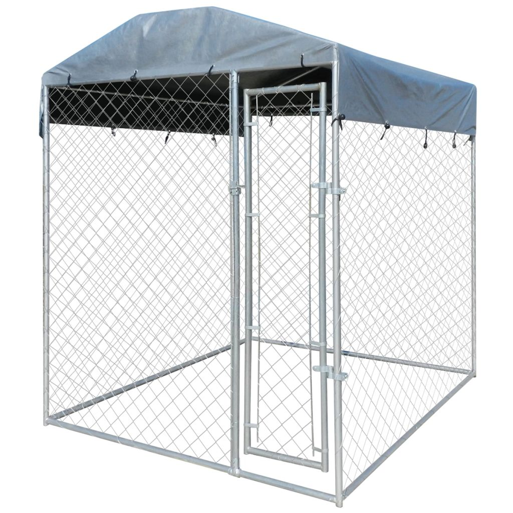 TIMCHEE Pet Dog Cat Crate Kennel Cage Bed Cozy House Kit Playpen Outdoor Dog Kennel with Canopy Top 6'x6'