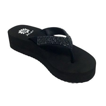 Yellow Box Women's Scalia Black Flip Flops