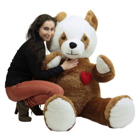 3b0e7751290 American Made Giant Stuffed Brown Panda 68 Inch Soft Teddy Bear Heart on  Chest - Walmart.com