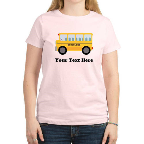Cafepress Personalized School Bus Women's Light T-Shirt
