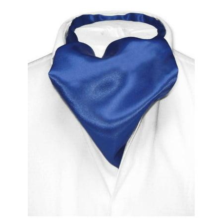 Biagio ASCOT Solid ROYAL BLUE Color Cravat Men's Neck Tie