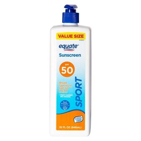 Equate Sport Broad Spectrum Sunscreen Value Size, SPF 50, 32 fl oz
