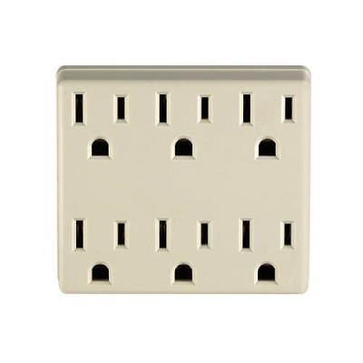 Leviton Duplex to Six Adapter - Ivory, 2PK