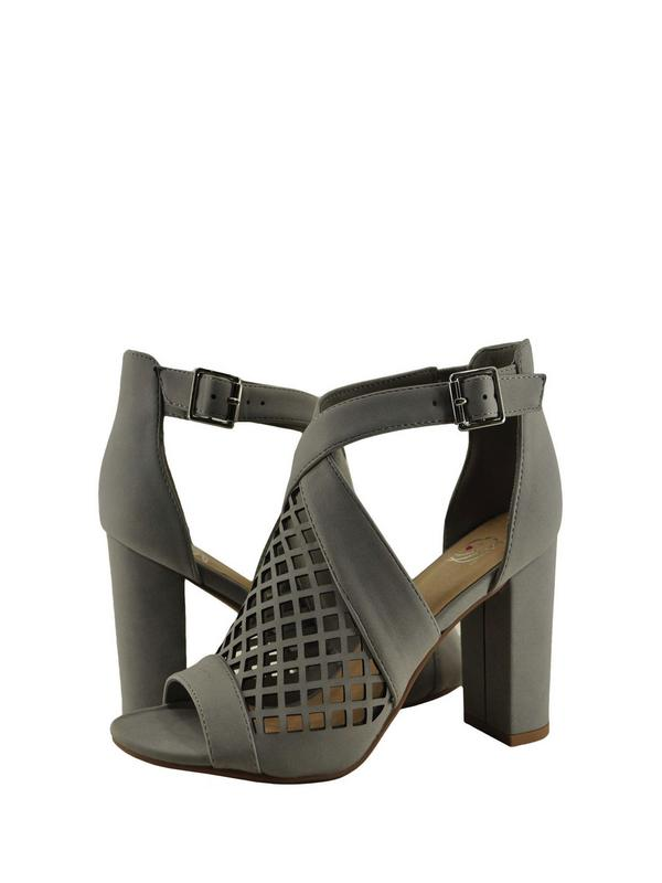 Delicious Beehive S Womens Open Toe Caged Chunky Heel
