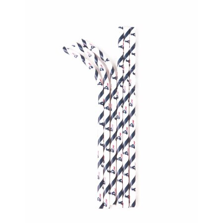Aardvark Eco-flex Paper Straws, Houston Texans, 24 - Teacher Supply Store Houston