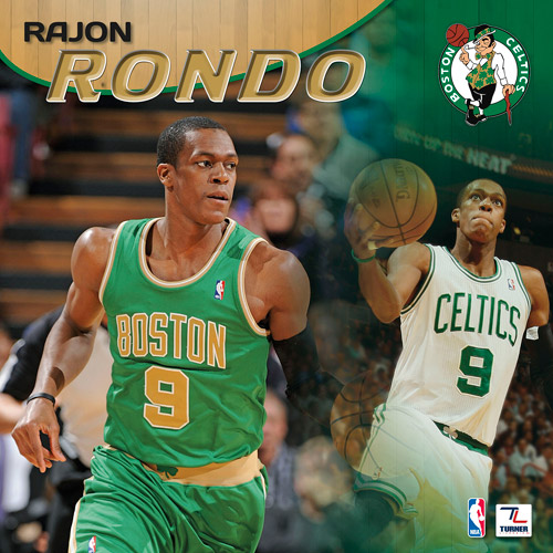 "2013 12"" x 12"" Player Wall Calendar, Boston Celtics, Rajon Rondo"