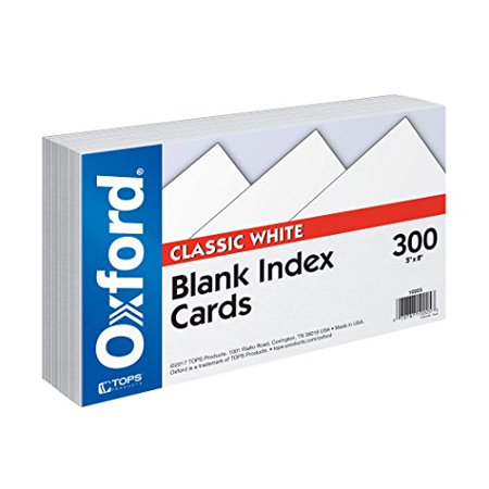 Blank Index (Oxford Index Cards, 5