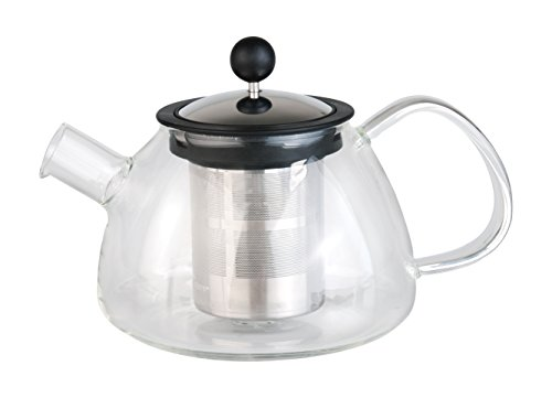BergHOFF Studio Glass Tea Pot with 18-10 Stainless Steel Infuser, Clear by BergHOFF