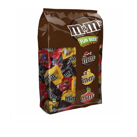 M&M'S Fun Size Variety Mix Milk Chocolate Candy | Contains 150 Packs, 5.3 Lbs. | Peanut, Peanut Butter, Milk
