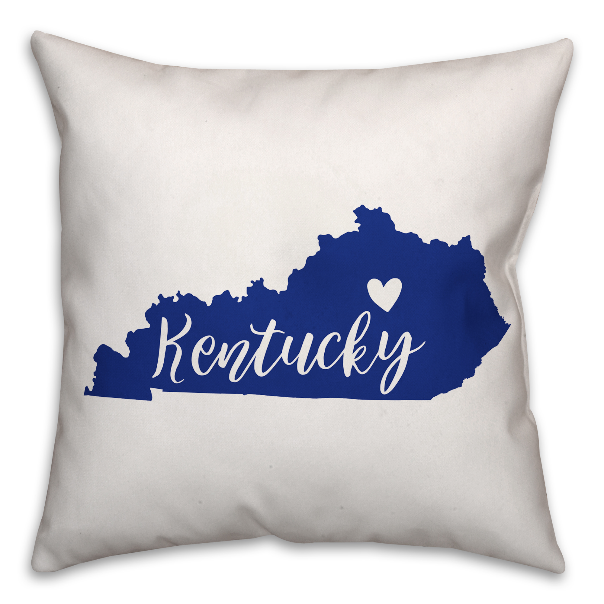 Blue and White Kentucky Pride 16x16 Spun Poly Pillow