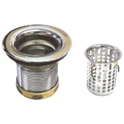 2 in. Basket Sink Strainer in Polished Chrome