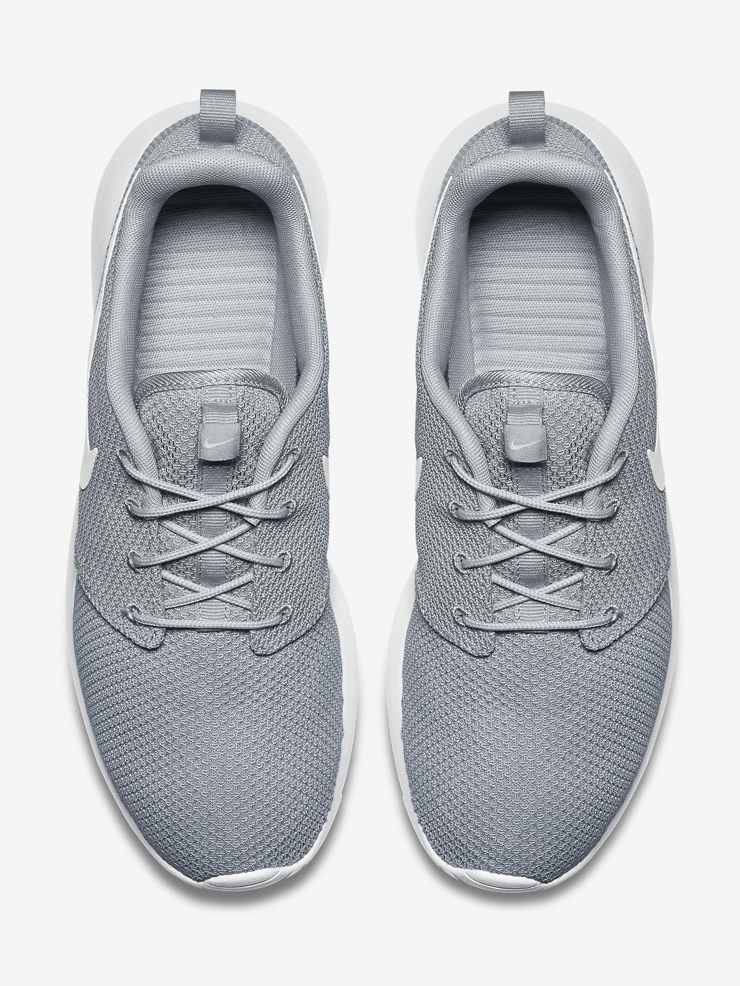Nike Mens Rosherun Wolf Grey/White Running Shoe (7.5)
