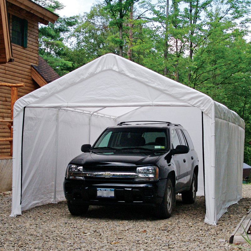 ShelterLogicu0026trade; White Canopy Enclosure Kit - 12 ... : canopy enclosure - memphite.com