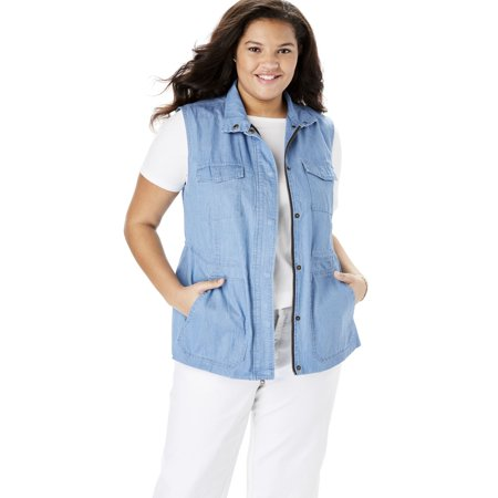 Woman Within Plus Size Utility Vest
