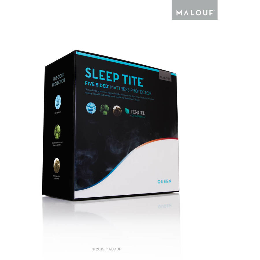Sleep Tite Five-Sided Mattress Protector with Omniphase and Tencel by CVB Inc.