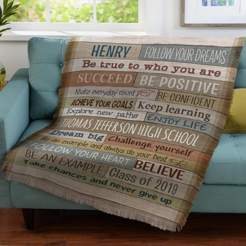 Personalized Words Of Wisdom Throw