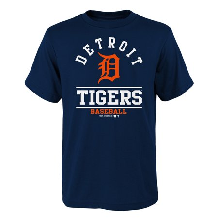 - Youth Navy Detroit Tigers Arch T-Shirt