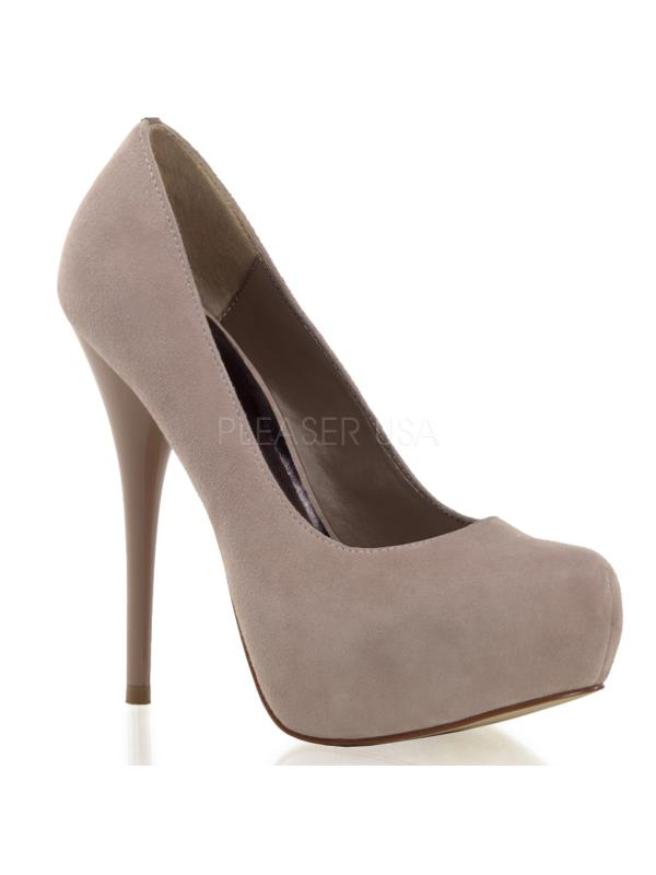"""GOR20/BHSUE Pleaser Day & Night Shoes 5 1/4"""" Gorgeous Blush Suede Size: 8"""