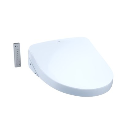 TOTO® WASHLET® S550e Electronic Bidet Toilet Seat with Ewater+ and Auto Open and Close Contemporary Lid, Elongated, Cotton White ()