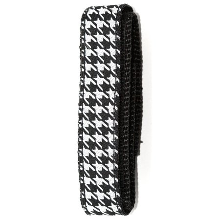 CHUMS THE BAND 18-20MM HOOK & LOOP BLACK WHITE HOUNDSTOOTH ONE PIECE