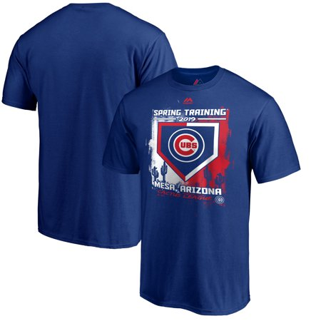 Chicago Cubs Majestic 2019 Spring Training Base On Ball T-Shirt - Royal (Galaxy Training Jersey)