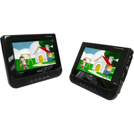 Akai AKPDVD702D 7″ Dual Screen Portable DVD Player