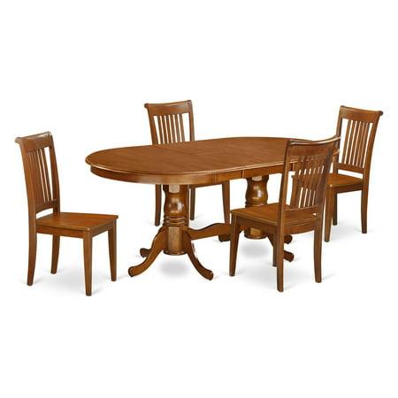 East West Furniture Plainville 5 Piece Windsor Dining Table Set ...