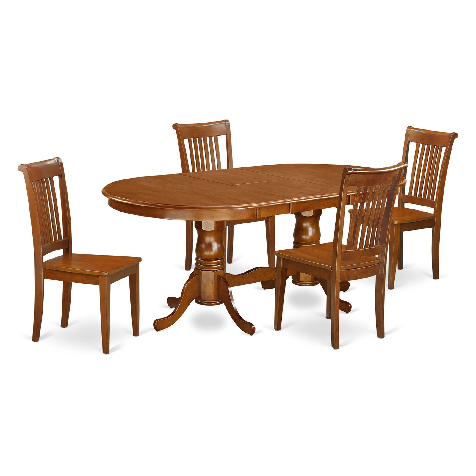 East West Furniture Plainville 5 Piece Windsor Dining Table Set