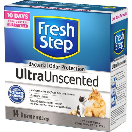 Fresh Step Ultra Unscented Litter, Clumping Cat Litter, 14 (Dust Free Clumping Cat Litter)