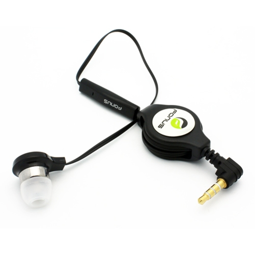 Retractable Headset MONO Hands-free Earphone w Mic for ZTE Grand X4 X3, X Max 2, Blade X MAX