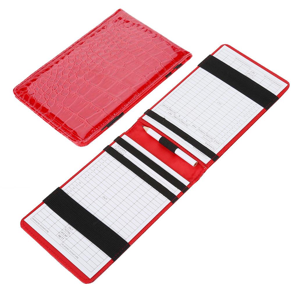 Yosoo PU Golf Score Counter Keeper Card Holder Gift Sports Accessories with Pencil , Golf Score Keeper Card
