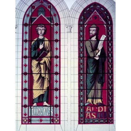 Century Stained Glass - Prophets The Jonas And Abdias 13th Century Stained Glass STAINED GLASS Poster Print
