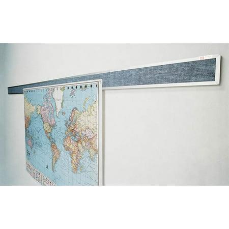 Tackboard Display Rails - 10 ft. Wide -