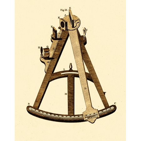 Sextant Navigational Instrument 1791 Poster Print by Science Source