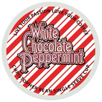 Christopher Bean K-Cup Coffee Pods, White Chocolate Peppermint, 18 Count for Keurig Brewers