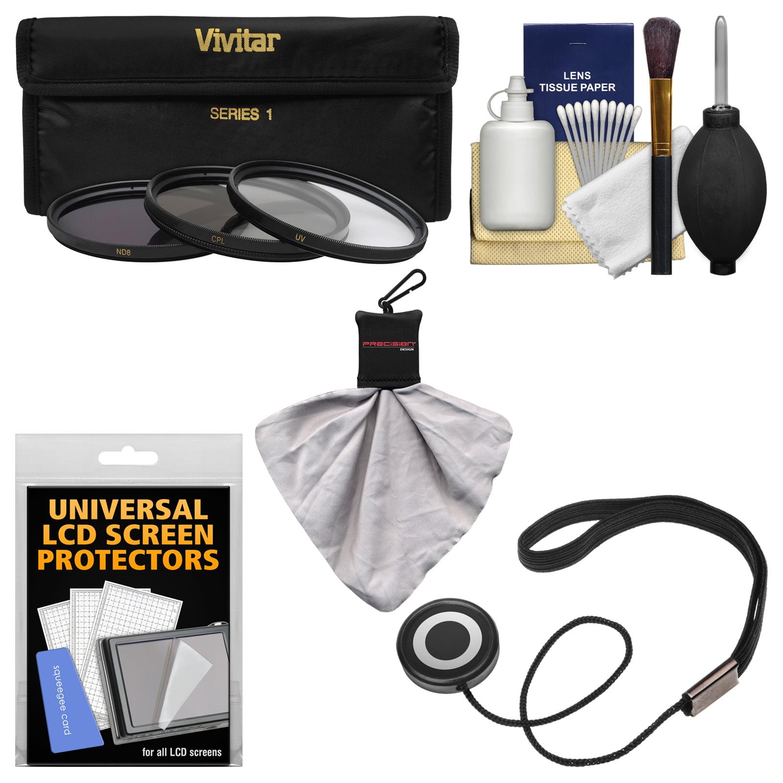 Essentials Bundle for Nikon 35mm f/1.8G AF-S ED Nikkor Lens with 3 (UV/CPL/ND8) Filters + Accessory Kit