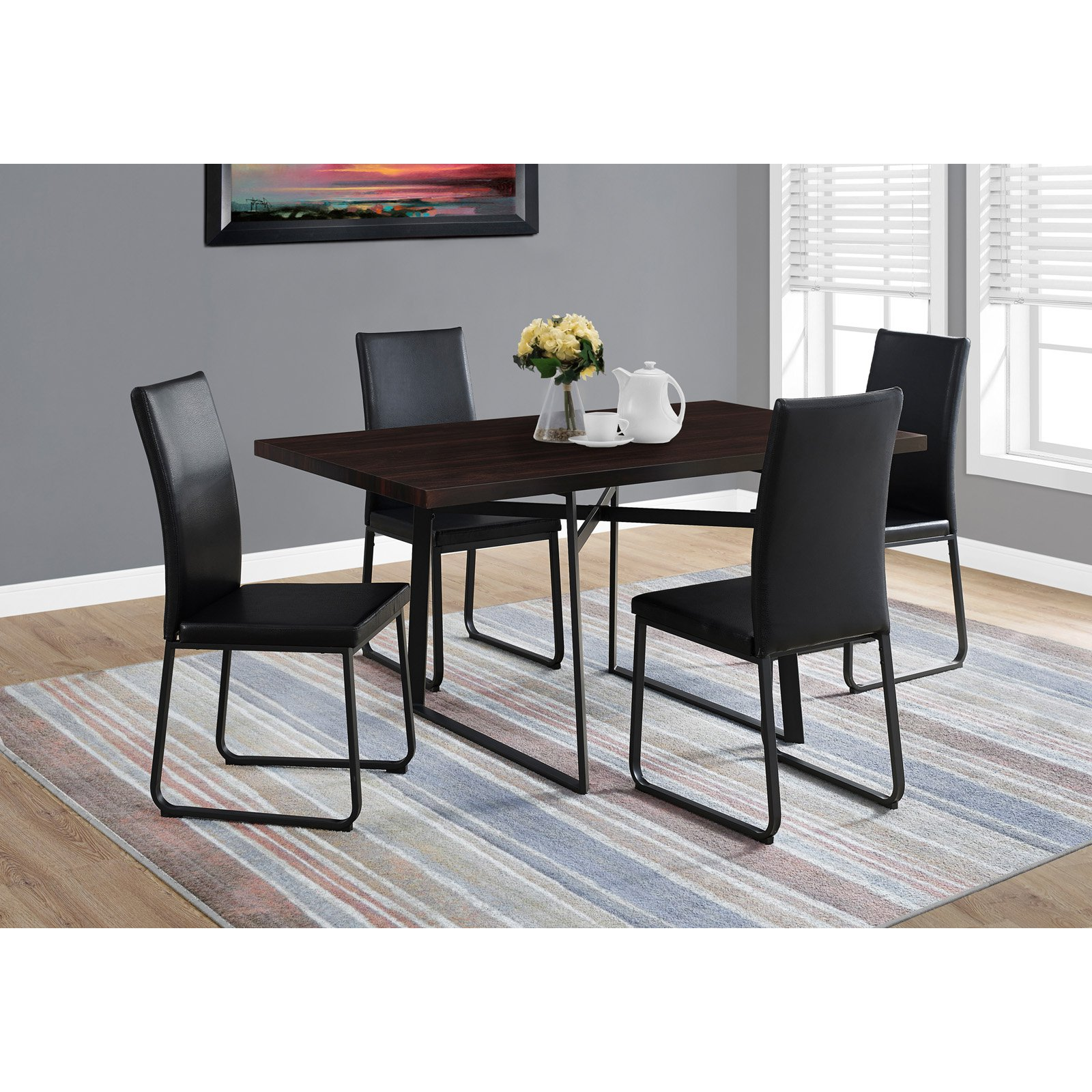 Monarch Specialties 60 in. Rectangular Dining Table - Cappuccino