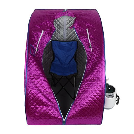 Jeobest Home Sauna for Weight Loss - Home Sauna Tent - Home Sauna Steamer - Portable Personal Steam Sauna Spa Full Body Sauna Tent Slim Weight Loss Detox Therapy with Chair Purple (Steamer Tent)