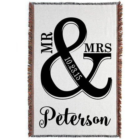 Personalized Mr. & Mrs. Throw Blanket