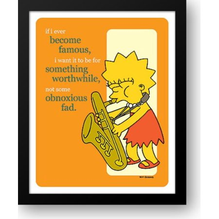 Simpsons - Lisa Famous Sax (postercard) 12x14 Framed Art Print - Lisa Frame