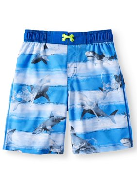 Wonder Nation Graphic Swim Trunk (Little Boys & Big Boys)
